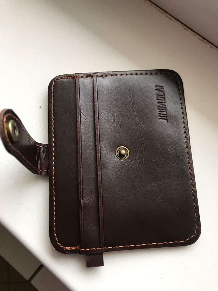 2019 New Arrival Men's Faux Leather Slim Wallet ID Credit Card Holder Button Case For Beauty And For Health photo review