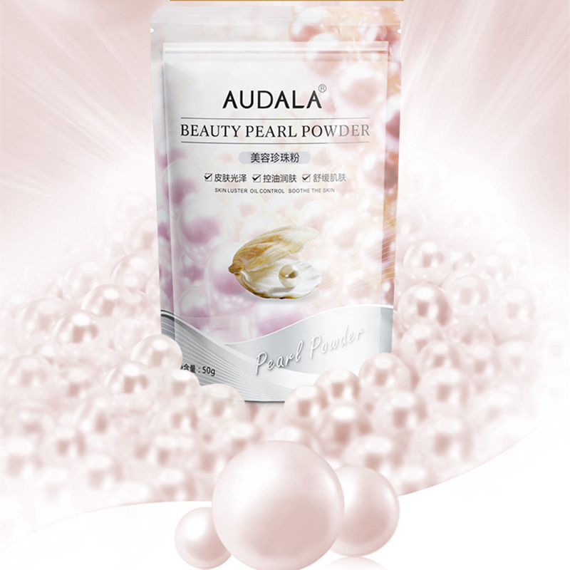 AUDALA Pure Pearl Powder Face Mask Fade Spot Face Cream Repair Pearl Powder Mask Melanin Remove Pearl Powder Whitening Cream 50g 180g 7oz bag pure seawater pearl powder face mask powder whitening skin