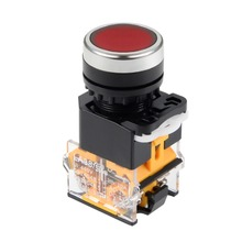 UXCELL 22mm Latching Push Button Switch Red Round Button DPST 1 NO 1 NC To Control The Electromagnetic Starter Contactor Relay цена и фото