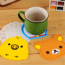 2041 creative home antiskid cartoon silica mat fashion heat insulation mat cup mattress(China)