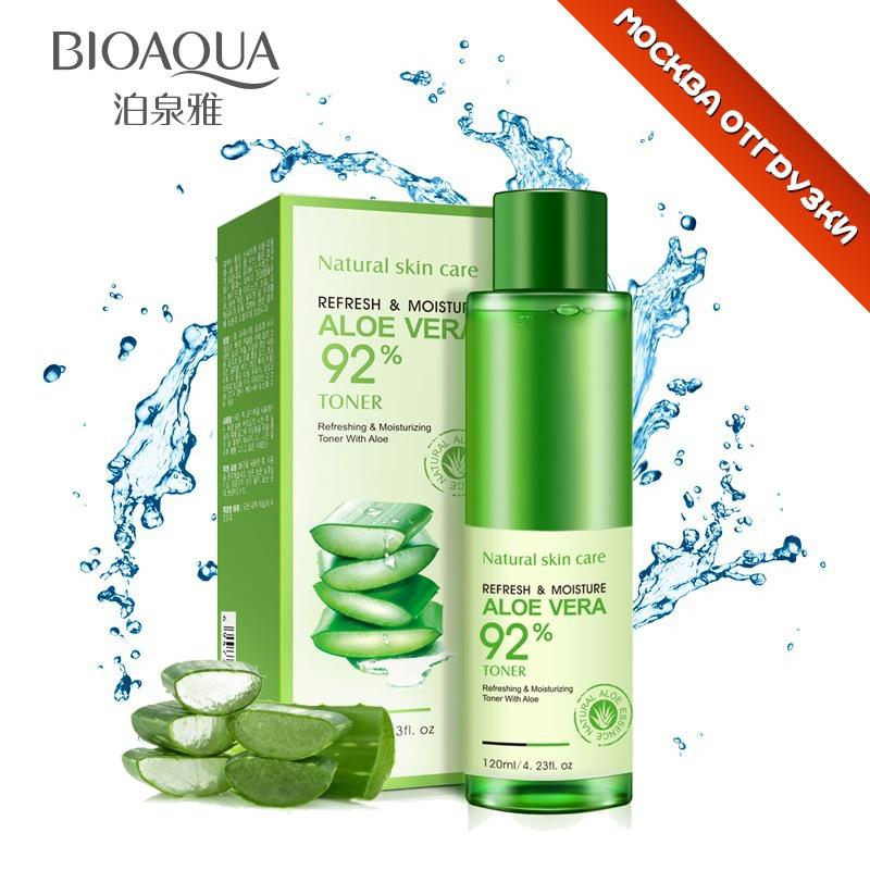 bioaqua natural aloe vera gel toner plants essence skin care moist hydrating whitening vintamin. Black Bedroom Furniture Sets. Home Design Ideas