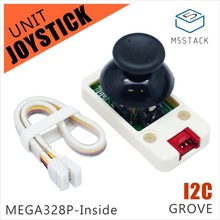 M5Stack Official New Joystick Unit MEGA328P I2C/Grove Connector Compatible X/Y Axis & Button for ESP32 Arduino Development Kit