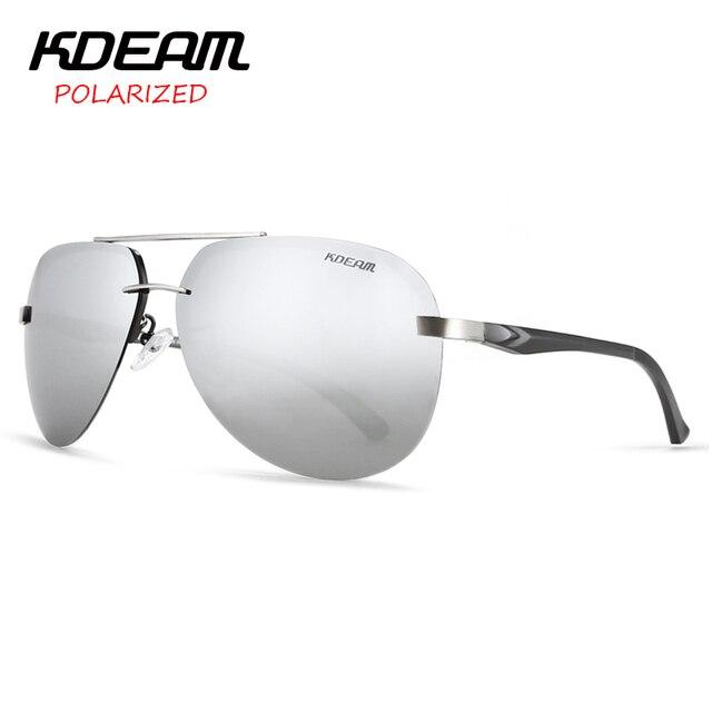 37f1f4264c9 KDEAM Metal Pilot Sunglasses Men Sun Glasses Polarized Luxury Women Mirror  lens Eyewear Outdoor 5 Colors UV400 With Case KD143