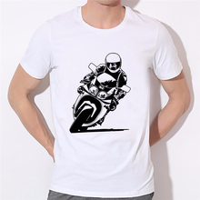 New Summer Classic MOTORCYCLE T Shirt Men Milk Silk Short Sleeve Good Quality Boy T-shirt Top Tees