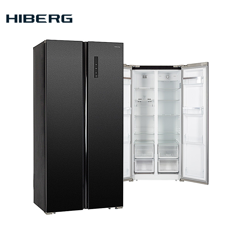цена на Refregirator Side-by-Side  HIBERG RFS-480DX NFB