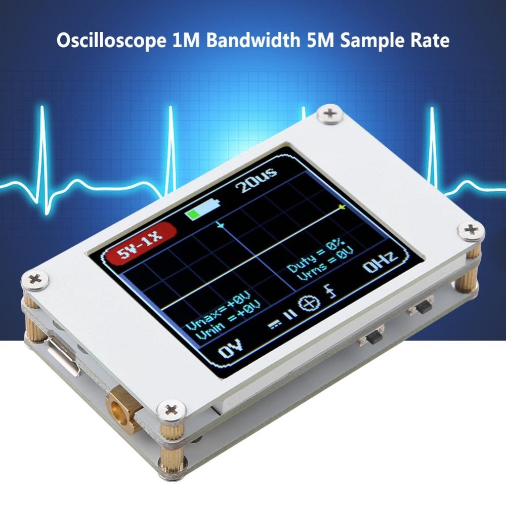 DSO188 Handheld Mini Pocket Portable Ultra-small Digital Oscilloscope 1M Bandwidth 5M Sample Rate Digital Oscilloscope Kit