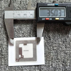 35*35mm ICH-c + o * d + e2 aufkleber ISO15693 13,56 MHz tags RF passive karten