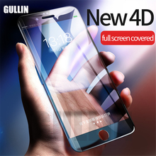 GULLIN 4D Full Cover Tempered Glass For iPhone X 8 6s Plus Screen Protector 7 glass HD Film Curved Edge