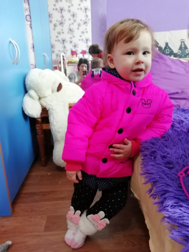 Lovely Mickey Mouse Styled Winter Girl's Coat photo review