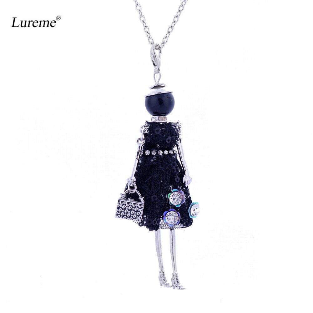 Lureme Handmade Doll Necklace Dress Handmade French Doll Pens