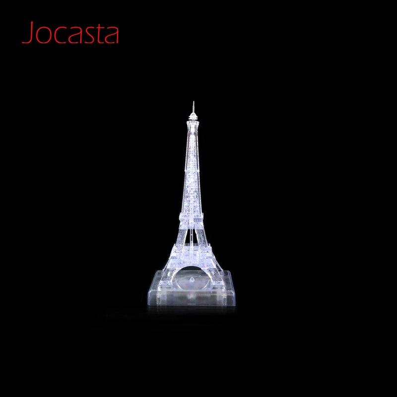 3d Crystal Puzzle Jigsaw Assembly Paris Eiffel Tower Flash