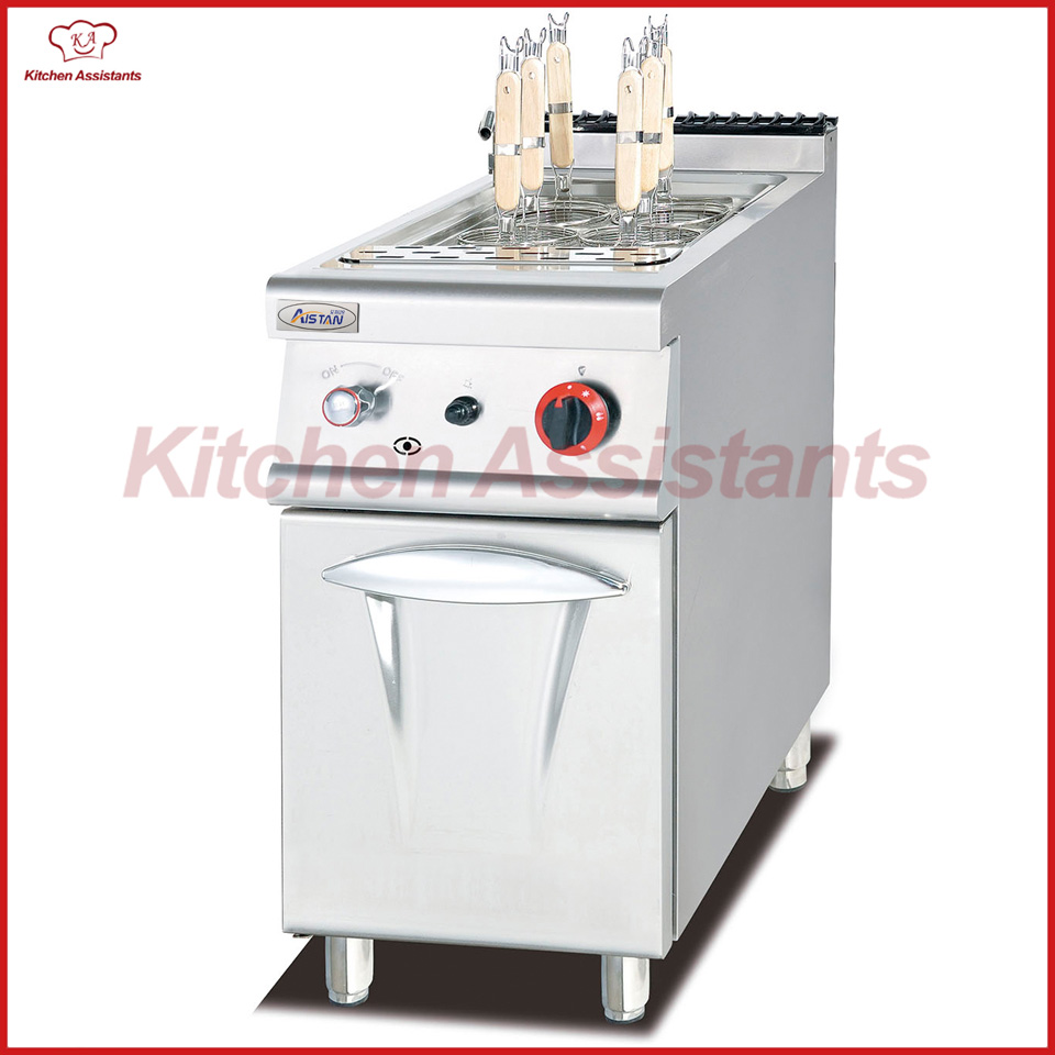 GH778 Gas Pasta Cooker with Cabinet for commercial use pkjg gh776 gas convection pasta cooker 6 pan for commercial kitchen