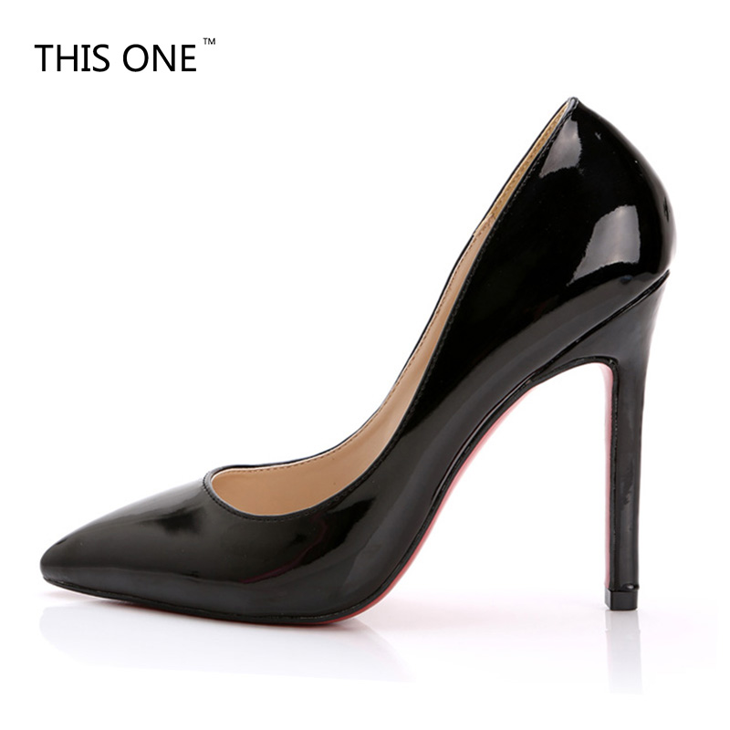 Star Style! Concise Shallow Women Pumps New European and American Fashion Solid Patent Leather Sexy Pointed Toe High Heels Shoes love from paddington
