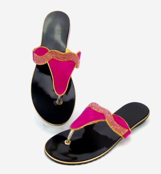 Mode Fs 022 De Pink Chaussures Strass rouge Beaucoup Petits Pantoufles Bateau deep Purple teal Avec Nouvelle Design Libre Italien jaune Bleu fushia Blue qgYOC