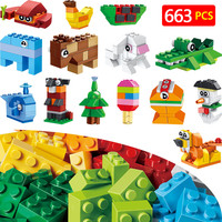 Classic Creative Box Blocks Compatible LegoINGlys animal Creator Bricks Toys Bricks Mini Action figures Enlighten Toy