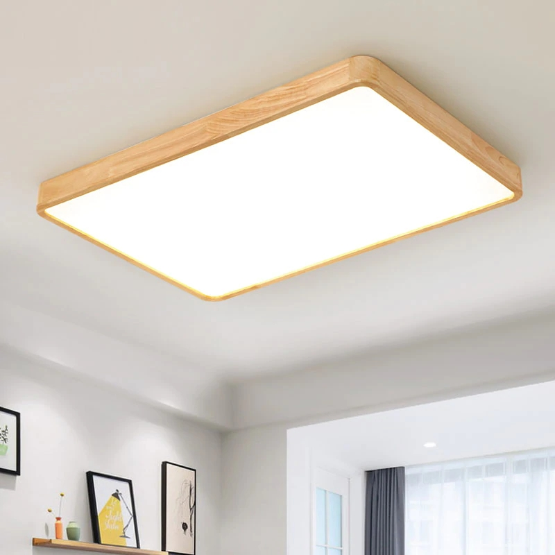 Modern Wooden LED Ceiling Light Indoor Lighting Fixture