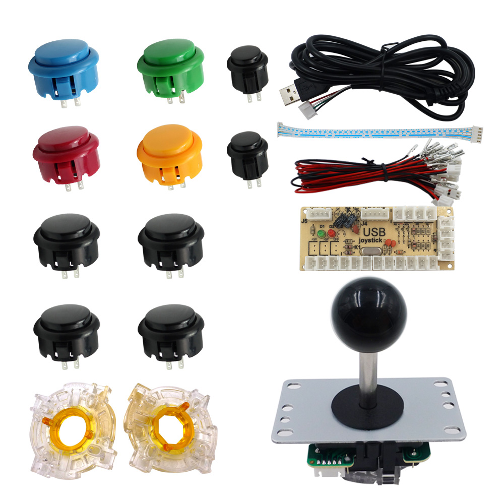 SJ@JX Zero Delay Arcade controller Arcade Push Button Raspberry Pi USB Encoder Retropie Arcade DIY Kit Arcade Game DIY Project