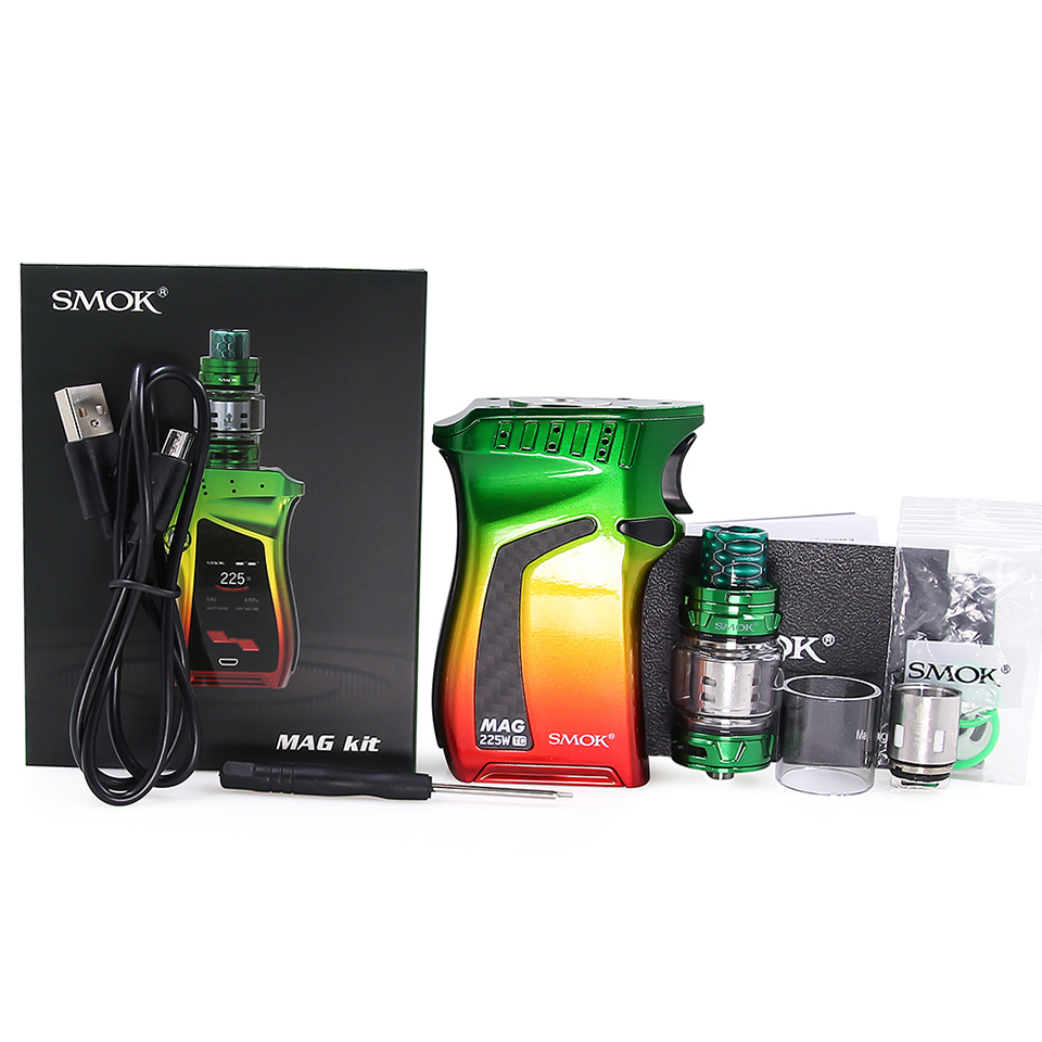 Original SMOK Mag Kit with 225W BOX MOD & 8ml TFV12 Prince Tank Vaporizer Electronic Cigarette Vape Kit VS SMOK X Priv G-PRIV 2