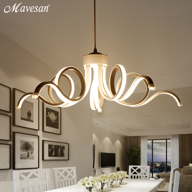 Modern LED Simple Pendant Lights Lamp For Living Room Lustre Pendant ...