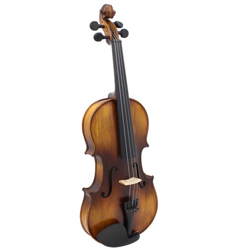 Full Size 4/4 Acoustic Violin Stringed Instruments Fiddle with Violin Case Bow Rosin Parts Accessories Set Kit For Musical Lover transparent 4 4 violin led light send violin hard case electric violin with colorful power lines and violin parts for lover