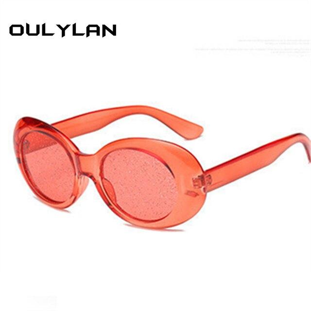 861bd0101c Oulylan Clout Goggles Round Sunglasses Women Vintage Oval Transparent Frame  Sun Glasses Men NIRVANA Kurt Cobain