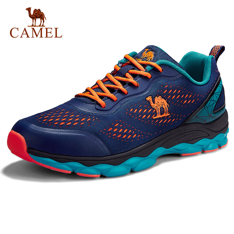 CAMEL Men Running Shoes Professional Sneakers Marathon Men Beginner Waterproof Lace-Up Outdoor Sports Gym Fitness Breathable