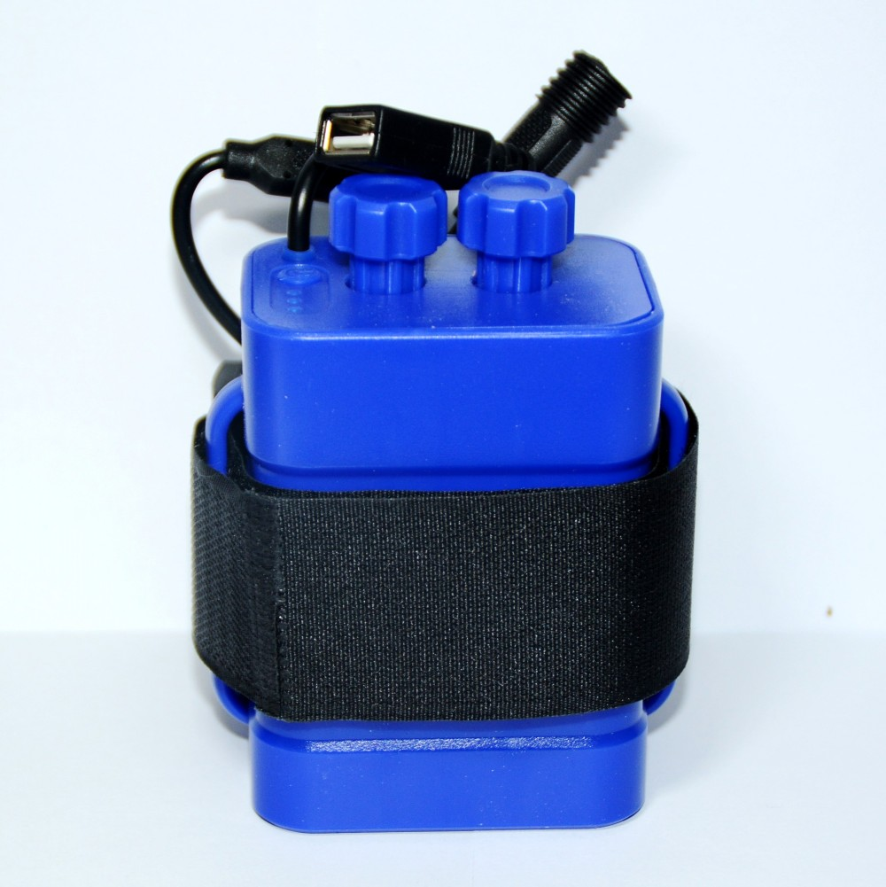 פלסטיק קל משקל עמיד למים 4x18650 סוללות קייס כיסוי עם רצועה עבור אופני אופניים אור מנורת בית נייד טלפון