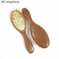 MC 2018 New Fashion Wooden Red Sandalwood Air bag Hair Combs Natural Antistatic Head Massager Tool Airbag Relaxation Brushes