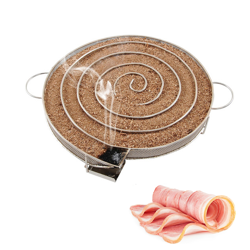 Générateur De Fumée à Froid en acier inoxydable BARBECUE Accessoires Outils Pour Fumer La Viande De Pêcher Le Saumon Bacon