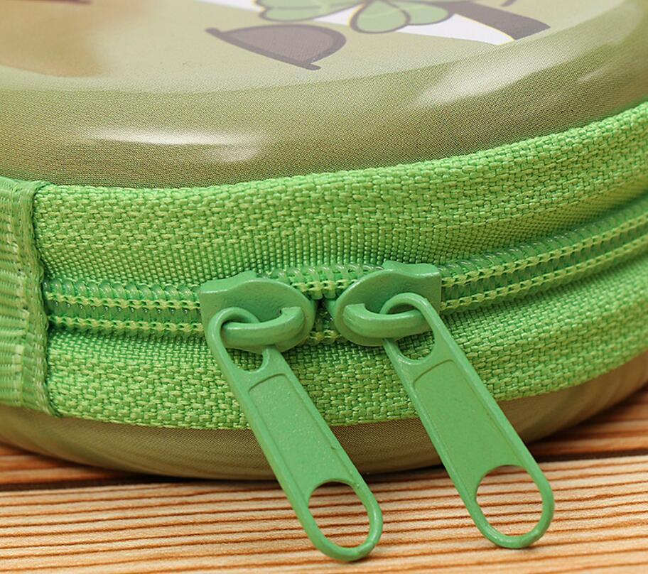 Lovely Creative Circular Zipper Travel Groda Tinplate Purse Söt - Plånböcker - Foto 5