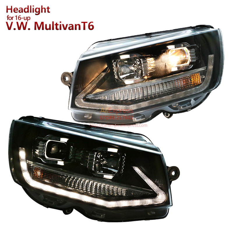 for VW Volkswagen Multivan T6 Projector Lens Headlights fit for 2016 year up Cars 1 Year Warranty Easy install DRL New Arrival new for 40k1023 40k1024 scsi 73gb 1 year warranty