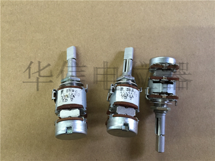 Original new 100% Japan import 16 type three triple double adjustable potentiometer resistance C5K C11.4K with step A10K SWITCH the first 16 double double resistance potentiometer c500 europe after b10k