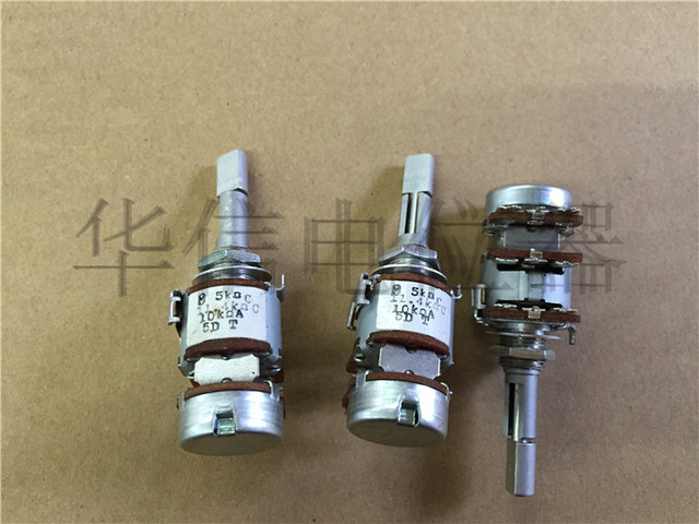 Original new 100% Japan import 16 type three triple double adjustable potentiometer resistance C5K C11.4K with step A10K SWITCH