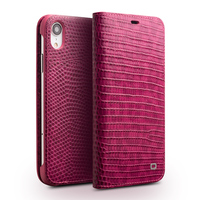 QIALINO Flip Phone Case for iPhone XR XS Max Crocodile Texture Top Layer Cowhide Leather Wallet Cover Case for iPhone XR Capa