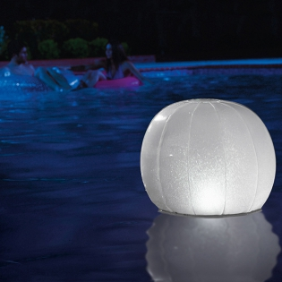 Montanchezz. Ball Led Swimming Pool. Free From Spain. Plastic Material. Pool Accessories. Accessories Summer Night.