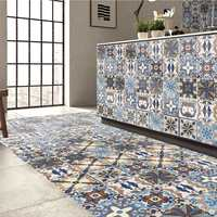 Waterproof PVC Self Adhesive Tiles Floor Wall Stickers Mosaics Art Decal Flowers Murals Kitchen Home Room