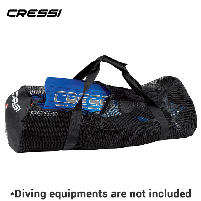 1b27a47267 Cressi GORGONA Diving Equipment Bag Fin Bags Big Volume Mesh Bag for Scuba  Freediving Equipment Easy Carry