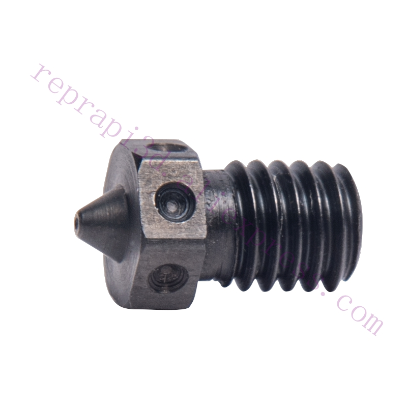 1pc Top Quality Hardened Steel V6 Nozzle 0.25/0.4/0.5/0.6mm nozzles F/ Prusa Printing PEI PEEK or Carbon Fiber Filament Hotend 1pcs hardened steel volcano nozzles for high temperature 3d printing pei peek or carbon fiber filament for e3dvolcano hotend