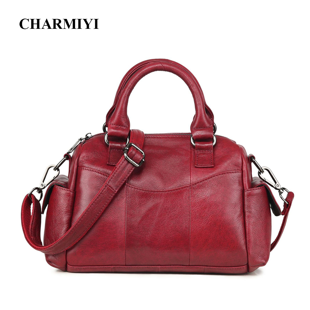 CHARMIYI Women Genuine Leather Bag Famous Brands Handbag Fashion Female Messenger Bags office Lady Top-handle Tote Crossbody Bag emini house tote bag genuine leather women messenger bags shoulder bag handbag women famous brands crossbody bags for lady