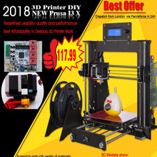CTC Prusa i3  3D Printer  Frame High Precision Impressora DIY Kit LCD 2017 Hot Sell Machine Resume Power Failure Printing hot sell easy operate steel diy 3d printer machine reprap prusa i3 kit with sd card and filament for free