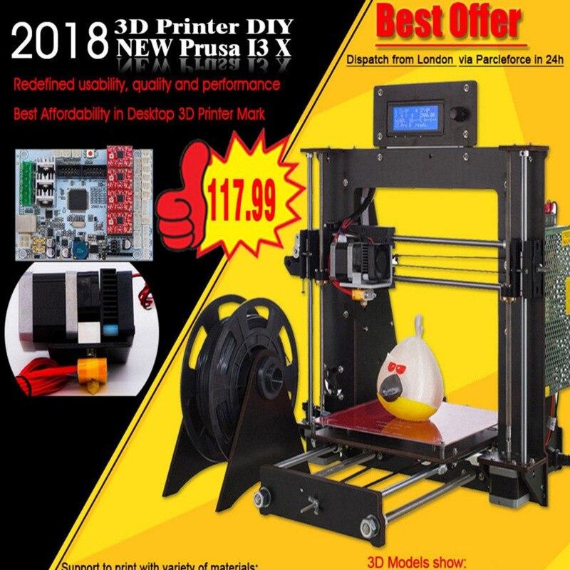 CTC Prusa i3 Pro B 3D Printer Frame High Precision Impressora DIY Kit LCD 2017 Hot Sell Machine