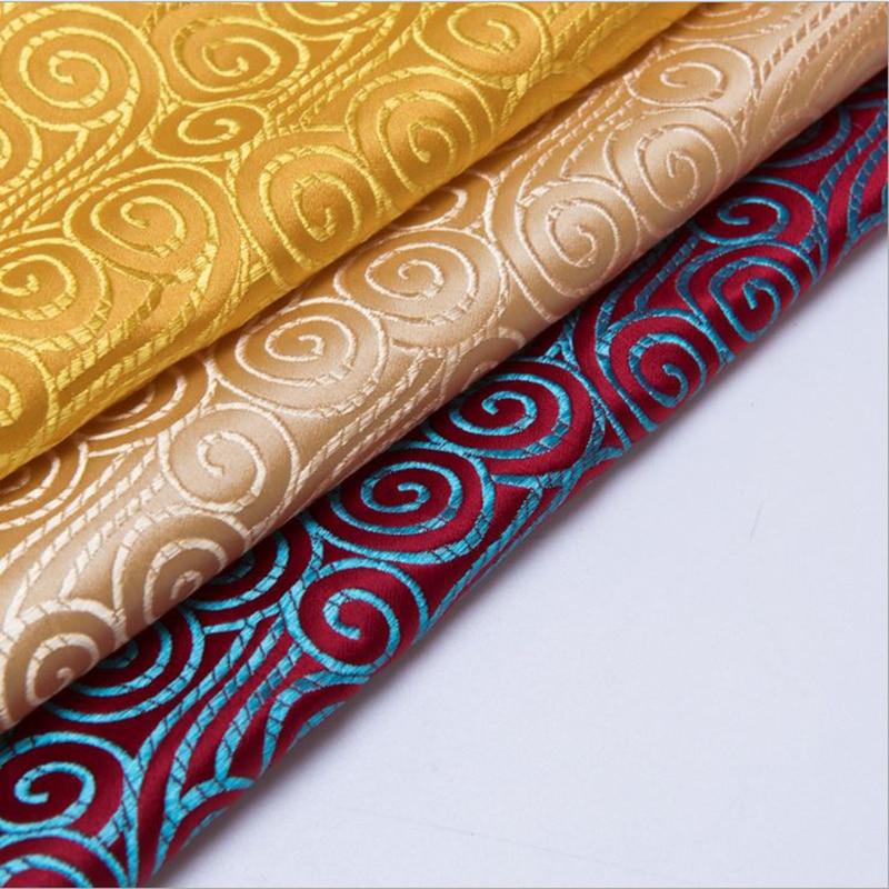 new arrival brocade propitious cloud fabric for patchwork felt tissue telas dress bed sheet children cloth coat bag 100x75cm