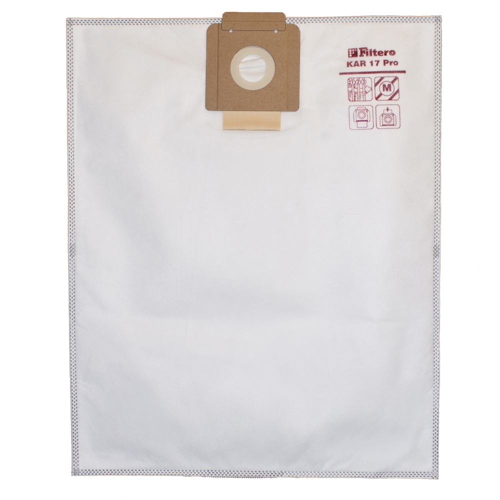 Set of dust bags for vacuum cleaners Filtero KAR 17 Pro 5pcs (up to 20L) 5pcs lot sy8037ddcc sy8037d sy8037 hi2db hi1av hi2ia