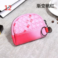 Lady Clutch Letter Snap Fastener Zipper Solid