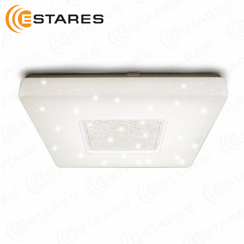 Led controlled Ceiling Light QUADRON SIYANIE 60 W S-550-SHINY/CRISTAL-220V-IP44 Estares цена