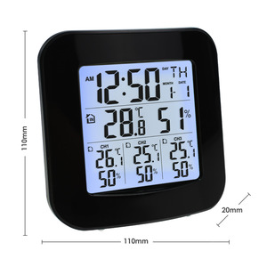 Image 4 - Digital Weather Station with Thermometer and Hygrometer, with 3 Indoor/ Outdoor Wireless Sensors for Temperature and Humidity