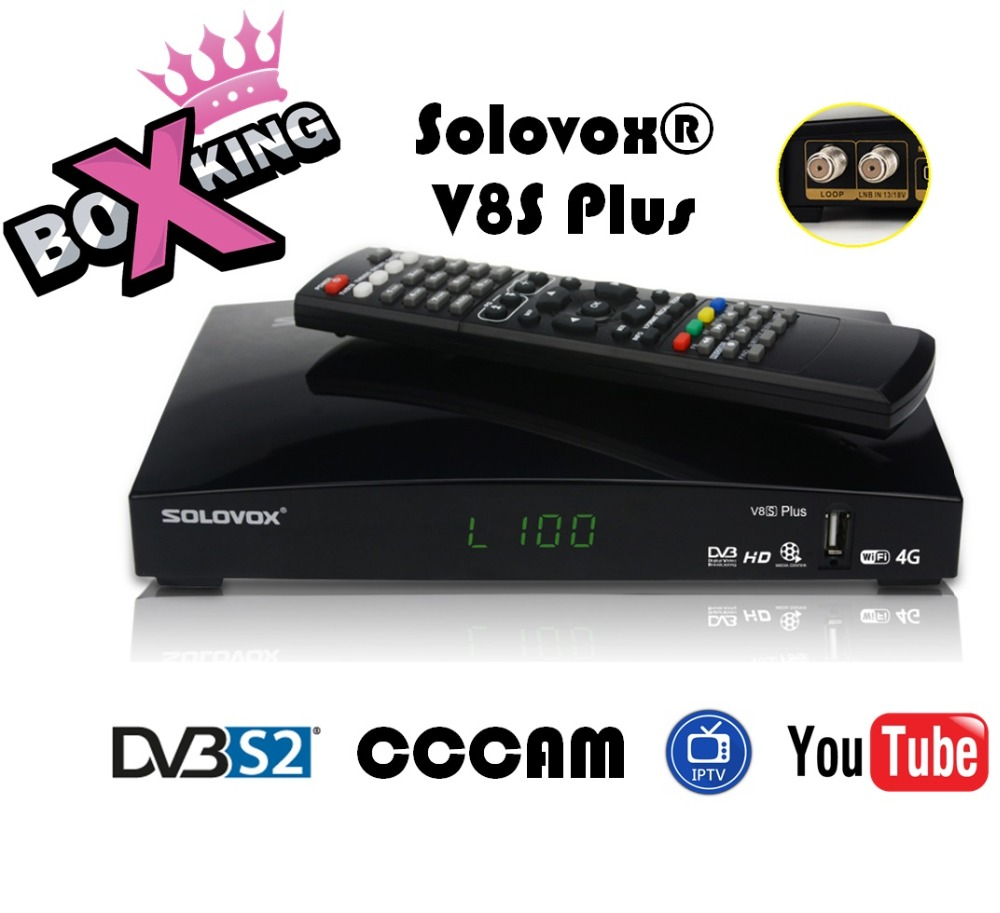 openbox v8s solovox V8S Plus DVB-S2 Support Biss Key WebTV Youtube Youporn IPTV USB Wifi 3G Satellite Receiver freesat v8 super акустический двигатель hdg hd3 флагманский настольный bluetooth динамик матовый черный