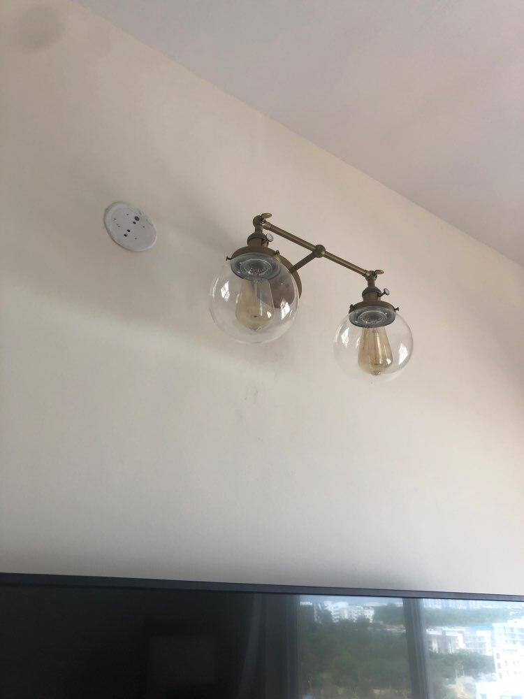 Luminárias de parede cabeceira escada vintage