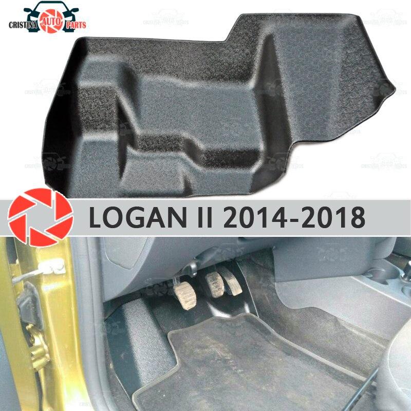 Almohadilla debajo de los pedales de gas para Renault Logan 2014-2018 cubierta debajo de los pies accesorios de protección decoración de alfombra estilo de coche