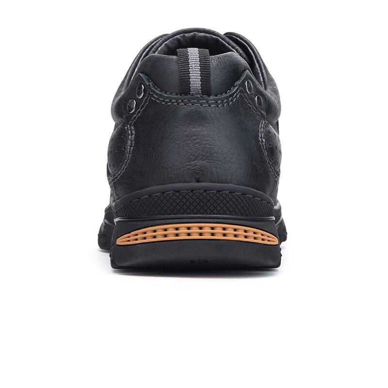 Wielbłąd jesień nowe oryginalne skórzane na zewnątrz na co dzień męskie buty męskie antypoślizgowe fala pracy buty ze skóry bydlęcej człowiek Lace up mieszkania w Męskie nieformalne buty od Buty na  Grupa 3